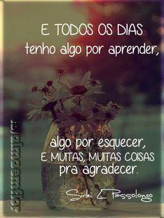 Todo dia é um recomeço. More Than Words, Some Words, Words Quotes, Me Quotes, Portuguese Quotes, Peace And Love, My Love, Motivation, Inspire Me