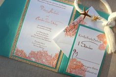 wedding invitations-but in pink and gray