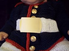 crochet marine corp baby outfit | Baby Marine Corps Dress Uniform Blues Outfit Photo Prop Newborn 3 ...