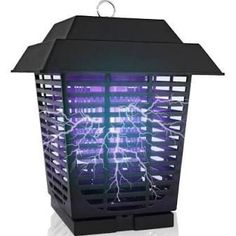 SereneLife - Waterproof Bug Zapper, Indoor/Outdoor Electric Plug-in Pest Control, Chemical-Free Insect Killer, Black