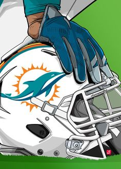 "NFL Team Helmets Miami Dolphins #Displate artwork by artist ""Akyanyme Dotcom"". Part of a 32-piece set featuring helmet designs based on team emblems from the NFL National Football League. £38 / $51 per poster (Regular size), £76 / $102 per poster (Large size) #NFL #NationalFootballLeague #AmericanFootball #SuperBowl #MiamiDolphins #Dolphins"