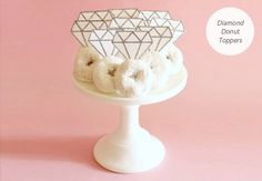 paper diamond doughnut toppers