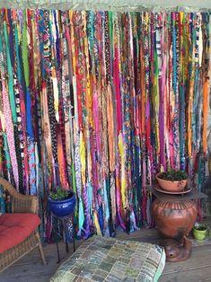 Bohemian Gypsy Curtains by Melisalanious on Etsy - Boho Living Room Decor Bohemian House, Bohemian Design, Bohemian Living, Modern Bohemian, Bohemian Gypsy, Gypsy Style, Bohemian Decor, Hippie Style, Bohemian Crafts