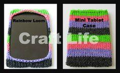 Craft Life Rainbow Loom Mini Tablet Case ~ fits an iPad and a Kindle Fire