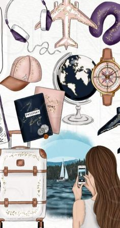 15 Ideas for travel drawing ideas illustration Fashion Wallpaper, Travel Wallpaper, Iphone Wallpaper, Moda Wallpaper, Tumblr Wallpaper, Wallpaper Art, Disney Wallpaper, Jesus Wallpaper, Cartoon Wallpaper