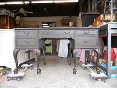 New! Painted Desk. On castors for easy mobility