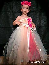 Detské oblečenie - Tutu šaty s čelenkou pre družičku alebo na fotenie - 6365797_