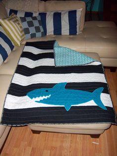 shows back of shark quilt