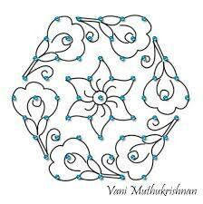 Muggu Rangoli Designs Flower, Small Rangoli Design, Rangoli Patterns, Rangoli Designs With Dots, Rangoli Designs Images, Rangoli Designs Diwali, Kolam Rangoli, Flower Rangoli, Rangoli With Dots
