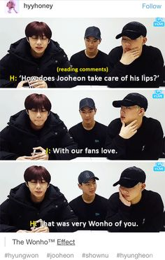 Monsta X vlive Jooheon takes care of his lips with Monbebe's love