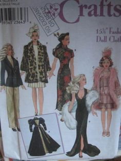See Sally Sew-Patterns For Less - Gown Dress Jacket Outfit Fashion Doll Wardrobe Simplicity 9049 Dolls Craft Pattern , $9.99 (http://stores.seesallysew.com/gown-dress-jacket-outfit-fashion-doll-wardrobe-simplicity-9049-dolls-craft-pattern/)