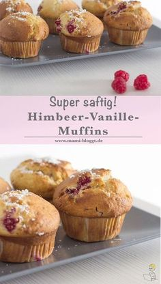 Saftige Himbeer-Vanille-Muffins If you like cheesecake and raspberries, you'll love my musty recipe. The cream cheese makes them particularly juicy – and the addition of vanilla gives them an extremely delicious taste. The perfect muffin-ingredient combo! Muffin Recipes, Cake Recipes, Dessert Recipes, Desserts, Muffins Double Chocolat, Muffins Sains, Nutella, Cheesecake, Cupcakes