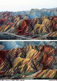 Zhangye Danxia Landform in China