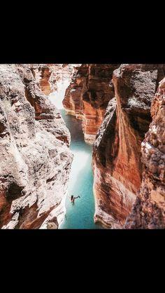 Canyon bliss // #orangeandturquoise #rockpatterns