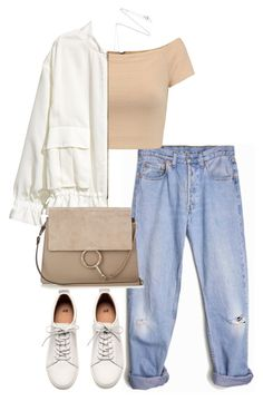 """""""Untitled #3945"""" by theeuropeancloset ❤ liked on Polyvore featuring Levi's, Alice + Olivia, H&M and Estella Bartlett"""