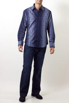 International Laundry Navy Blue Vegas Shirt $139