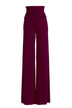 VIV Collection Women's RAYON MODAL Solid Wide Leg Palazzo Pants -- Details can be found by clicking on the image.