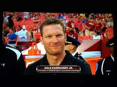 In my neighborhood, at the Browns-Redskins preseason game 8/18/14; day after finishing 5th at Michigan where he lost the points lead to Jeff Gordon who won.