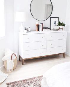 Bedroom redesign - 11 Genius IKEA Bedroom Hacks That Will Blow Your Mind Bedroom Hacks, Home Bedroom, Scandi Bedroom, Ikea Bedroom Decor, Bedroom Inspo, Bedroom Colors, Ikea Bedroom Storage, Simple Bedroom Decor, West Elm Bedroom