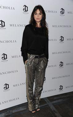 """Charlotte Gainsbourg en Balenciaga à l'after party de la première du film """"Melancholia"""" en octobre 2011 à New York"""