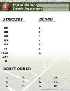 Printable 13 Team Fantasy Football League Schedule | Misc ...
