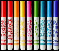 I remember using these in art class and making patterns and textures on my art. So fun!