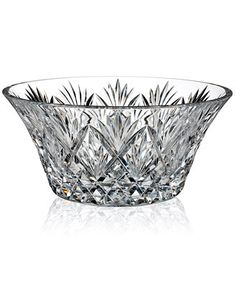 Magnificent details in sparkling crystal define this limited edition Waterford creation. Catching the light from every angle, the Cassidy bowl elevates any setting to timeless elegance. | Crystal | Ha