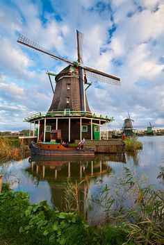 Windmills, Zaandijk, Holland, Netherlands