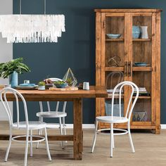 Create a warm and inviting dining space with the Bentwood replica chair & Industrial dining table & Buffet.
