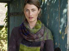 Knitted Rowan Kidsilk Haze scarf only one 50 g ball neulottu huivi