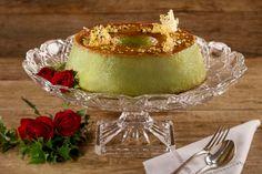Receita para ceia de Natal: pudim de pistache Flan, Panna Cotta, Diet, Cake, Ethnic Recipes, Desserts, Foods, Cake Filling Recipes, Tasty Food Recipes