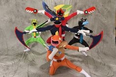 PokeRangers cosplay at Otakon 2015. This is amazing. I love these cosplay combos. So creative!