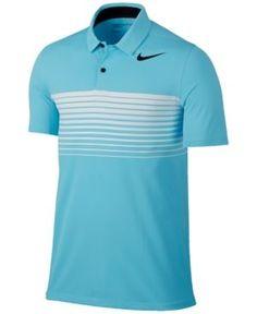 Nike Men's Mobility Dri-fit Speed Stripe Golf Polo - Blue S Mens Golf Outfit, Golf Attire, Sport Shirt Design, Sport T Shirt, Black Polo Shirt, Polo Blue, Next Sportswear, Nike Wear, Soccer Uniforms