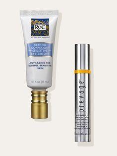 Elizabeth Arden Prevage Anti-Aging + Intensive Repair Eye Serum; RoC Retinol Correxion Sensitive Eye Cream | allure.com