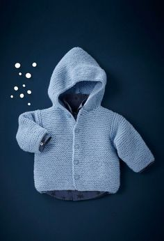crochet baby sweater with hood Crochet Baby Sweaters, Crochet Baby Cardigan, Baby Cardigan Knitting Pattern, Crochet Jacket, Baby Knitting Patterns, Baby Patterns, Knit Vest, Baby Pullover, Toddler Fashion