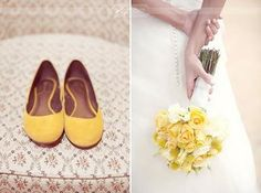 yellow flats for dancing :)