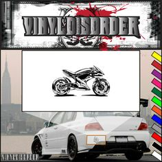 Motorcycle Sketch Wall Decal - Vinyl Decal - Car Decal - CD013