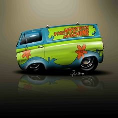 Cartoon Mystery Machine Van