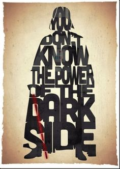 funny star wars movie poster darth vader you don't know the power of the dark side