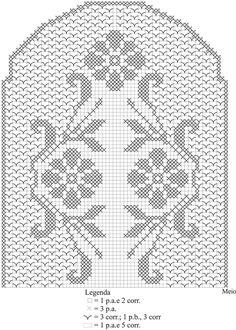Caminho de mesa em crochê filé