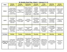 Weekly meal planning includes free printable and links to recipes - like this!