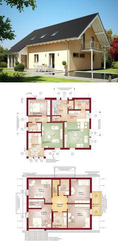 Modernes satteldach haus celebration 150 v9 bien zenker for Zweifamilienhaus mit einliegerwohnung