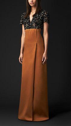 Beaded Stretch-Silk Dress | Burberry