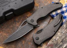 Brous Blades: VR-71 Flipper - Carbon Fiber - Acid Stonewash