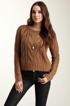 BB Dakota David Cable Knit Sweater on HauteLook