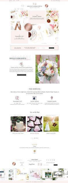Hello Gorgeous Wordpress Genesis  by Hello You Designs on @creativemarket #AD