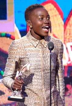 Winning streak! The talented star looked beyond thrilled to receive the award