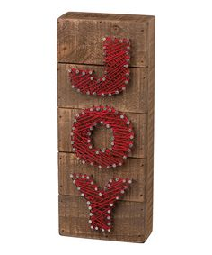 Take a look at this 'Joy' String Art Wall Décor today!