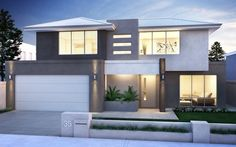 Perth Home Builders :: Cambridge Home Interior Design, Exterior Design, Front House Landscaping, Beautiful Modern Homes, Double Storey House, House Front Design, Storey Homes, House Landscape, Dream House Plans