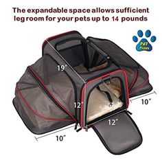 Expandable Pet Carrier- Airline Approved- Designed for Cats Dogs Kittens Puppies  Extra Spacious With 2 Side Expansion! Comfortable Soft Sided Travel Carrier  100% Satisfaction Guaranteed!